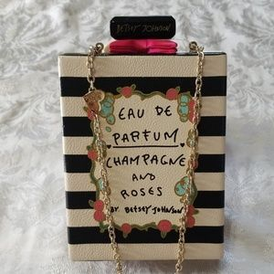NWOT Betsey Johnson Eau De Parfum Clutch